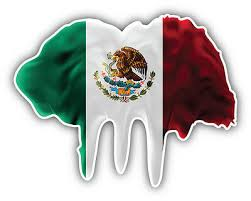 Mexican Flag Hispanic Country Mexico Car Bumper Vinyl Sticker Decal 5x4 Automobilia Collectibles Transportation