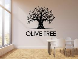 Vinyl Wall Decal Olive Tree Leaves Nature Kitchen Decor Stickers Mural Wallstickers4you