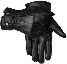 mens touch screen real leather gloves