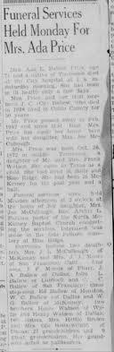 Ada Watson Ballew Price Obituary - Newspapers.com