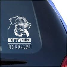 Amazon Com Rottweiler Clear Vinyl Decal Sticker For Window Rottie Dog Sign Art Print Arts Crafts Sewing