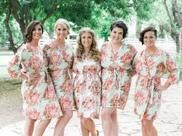 bridal party dressing gowns fashion