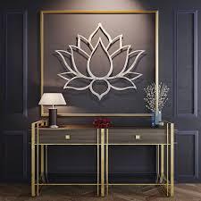lotus flower metal wall art the