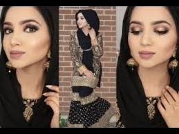 eid black and gold makeup tutorial