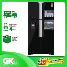 Tủ lạnh Hitachi Inverter 540 lít R-FW690PGV7 GBK, công nghệ kháng khuẩn khử  mùi Nano Titanium, cảm biến nhiệt ECO - Bảo hành 12 tháng.