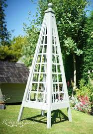 bespoke wooden trellised garden obelisk
