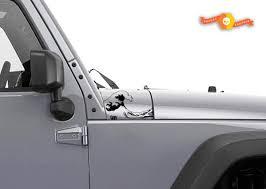 Product Jeep Wrangler Ocean Wave Hood Vinyl Stickers Full Set Decal Jk Left Right