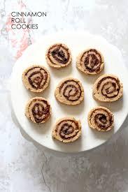 vegan cinnamon roll cookies oilfree