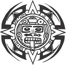 Tribal Aztec Calendar Sticker Decal 20 Colors To Choose From Aztec Calendar Calendar Stickers Custom Vinyl Lettering