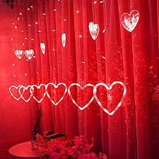 glass heart fairy led hanging light