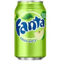 fanta green apple soda american