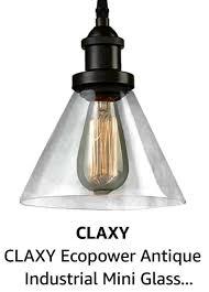 industrial mini glass pendant lighting