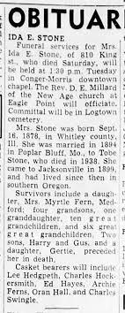 Ida Stone (Grandma Stone) - Newspapers.com