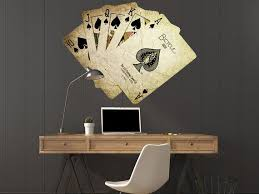 Playing Cards Decal Casino Cards Poker Cards Full Color Cards Etsy Print Decals Vinyl Poster Wall Decals