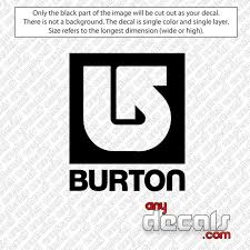 Car Decals Car Stickers Burton Snowboard Car Decal Anydecals Com