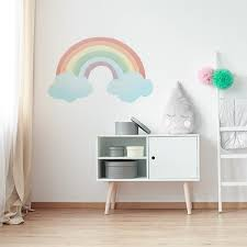 Watercolor Rainbow Wall Decal Labeldaddy