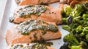 One-Pan Roasted Salmon with Broccoli ...
