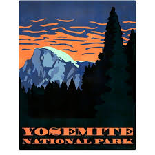 Yosemite Park Sunset California Wall Decal Etsy