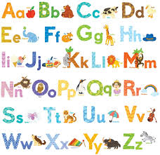 Amazon Com Decowall Dw 1608s Watercolour Animal Alphabet Abc Kids Wall Stickers Wall Decals Peel And Stick Removable Wall Stickers For Kids Nursery Bedroom Living Room Decor Home Kitchen