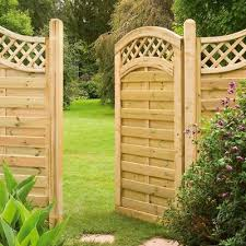 Prague Gate Wooden Pressure Treated Dome Top Trellis Gate Matching Fence Panels Ebay