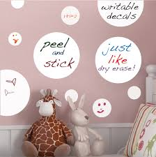 Dry Erase Polka Dots Decal Modern Wall Decal Murals Primedecals