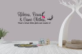 Ribbons Bows Camo Clothes That S What Little Girls Are Etsy