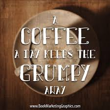 coffee a day quote book marketing graphics