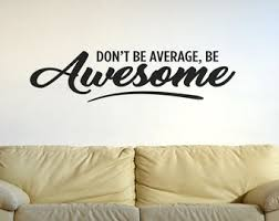 Awesome Wall Decal Etsy