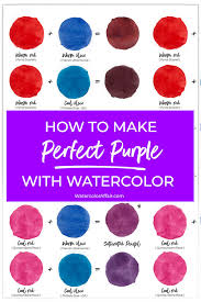perfect purple with watercolor