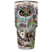 Skin Decal Vinyl Wrap For Yeti 30 Oz Rambler Tumbler Cup 6 Piece Kit Stickers Skins Cover Owl Painting Aztec Style Walmart Com Walmart Com