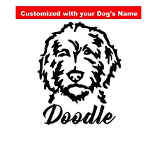 Dog Decal For Yeti Labradoodle Decal Golden Doodle Decal Decal For Water Bottle Decal For Car Personalized Decal With Dog Names Dog Decals Doodle Dog
