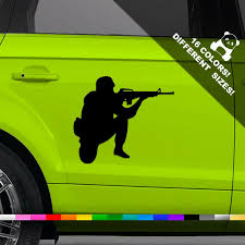 Soldier Car Decal Pongo Window Or Bumper Sticker Etsy