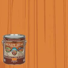 Ready Seal Pre Tinted Natural Cedar Semi Transparent Exterior Stain And Sealer Gallon In The Exterior Stains Department At Lowes Com