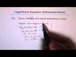solve logarithmic equation check