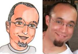 cartoon caricature face only by dyns