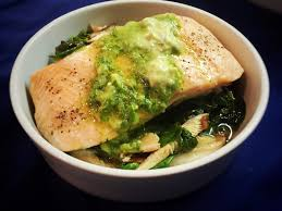Asian Salmon Foil Packet with Spinach ...