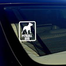 Pitbull Dad Car Window Bumper Decal Sticker I Love My Rescue Dog 4 Inches Rect For Sale Online