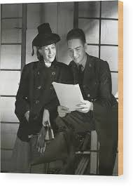 Wendy Barrie And Corporal Marion Hargrove Wood Print by Horst P. Horst