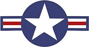 Amazon Com Stickerjoe Roundel Star Sticker Us Air Force Usaf Insignia Car Decal 6 X 3 5 Automotive