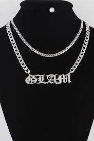 toggle chain letter pendant necklace