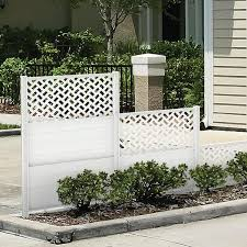 Connections Decorative Vinyl Panels Yard Accents Freedom Outdoor Living For Lowes Garden Fence Panels Vinyl Panels Garden Fence