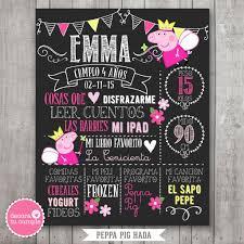 Lamina Pizarra Imprimible Personalizada Peppa Pig Hada