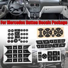 Car Button Repair Steering Ac Door Lock Window Decals Stickers New For Mercedes For Benz 2007 2014 Button Repair Sticker Decal Wish