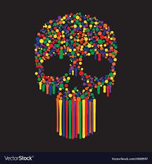 skull wallpaper royalty free vector image