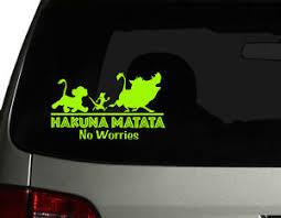 Hakuna Matata Cute Vinyl Car Decal Sticker 7 5 W W Lion King Character No 3 Ebay