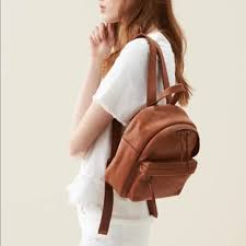mini lorimer leather backpack brown