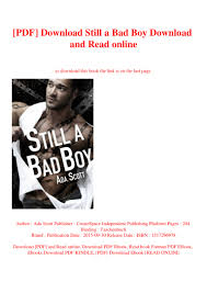 PDF] Download Still a Bad Boy Download and Read online