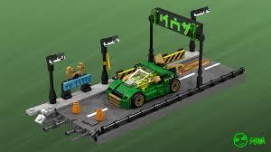 I built the Ninja Nightcrawler in the style of the Lego Tiny Turbo sets. :  Ninjago