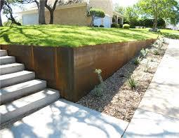 corten steel in landscape and garden
