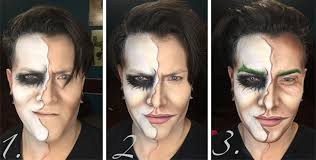 makeup artist transforms himself into